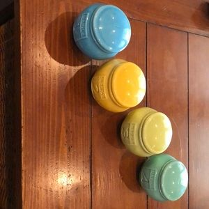 Anthropologie set of 4 French spice jars.